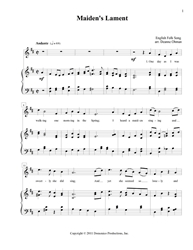 Maidens Lament Folk song, English, download, print music, Maidens Lament, PDF
